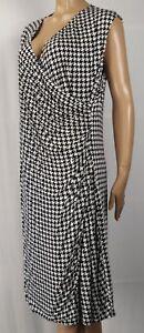 Ralph Lauren Knee Length Sleeveless Black Pearl Pleated Wrap Dress NWT $165