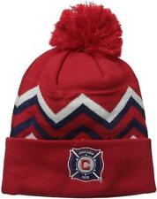 New Licensed MLS Adidas Chicago Fire Cold Weather Beanie Hat __B85