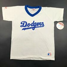 Vintage 90s NWT Los Angeles Dodgers Rawlings Single Stitch Youth White L T Shirt