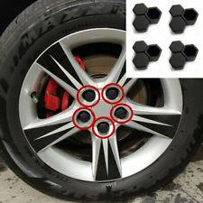 20pcs Car Truck Wheel Tyre Hub Screw Bolt Nut 19mm Black Plastic Cap Accessories