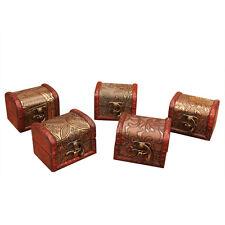 Wood Handmade Lock Box Storage Organizer Jewelry Bracelet Pearl Case Gift Hot