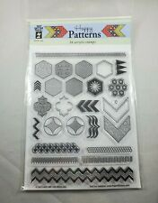 Happy Patterns 26 Acrylic Stamps Cutting Dies Paper Card Making Scrapbooking Emb