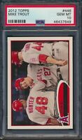 2012 Topps #446 Mike Trout 2nd Year Card PSA 10 Gem Mint