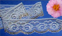 """Gold Lace Trim Scallop 12 - 24 Yd x 1-1/4"""" Roses I26V Buy any 3 Trims Get 1-FREE"""