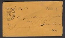 CSA Confederate States America PAID 5 Port Gibson Mississippi Nov 26 1861 Cover