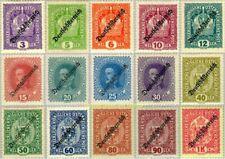 """EBS Austria Österreich 1918-1919 """"Deutschösterreich"""" overprints 228-242 MH*"""