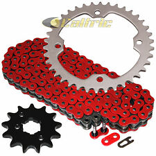 Red O-Ring Drive Chain & Sprocket Kit Fits YAMAHA RAPTOR 350 YFM350 2004-2013