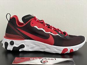 "Nike React Element 55 ""Georgia Bulldogs"" CK4839-001 Men's Size 14 Running Shoes"