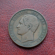 Belgium 1853 copper medallic issue 10 centimes