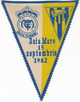 Real Madrid Pennant Baia Mare Romania Wimpel Football Extremely Rare!