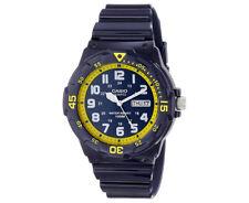 Casio Men's 45mm MRW200HC-2B Analogue Resin Watch - Blue/Yellow