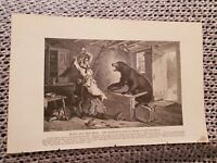 Betty & the Bear, Husband's Advice From A Safe Retreat - 1886 Book Print