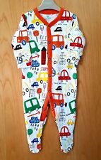 ♡ Next ♡ NEW ☆ Baby Boy ☆ Car Bus Sleepsuit Babygrow Pyjama ☆ 3-6 Months Xmas