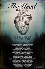 The Used | Red Sun Rising | Fever 333 Tour 2018 Ltd Ed Rare Poster +Free Poster!