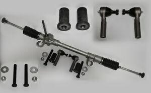 74-78 Mustang II Manual Steering Rack and Pinion+Tie Rods Bushings Bolt Full Kit