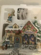 Precious Moments Christmas Village House Tiny Treasures Toy Shop Figure Set