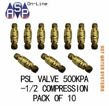 "RMC PRESSURE LIMITING VALVE PSL50-C 500kPa - 1/2"" -15mm COMPRESSION PACK OF 10"