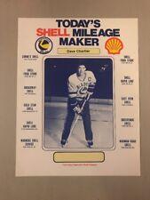 1983-84 SASKATOON BLADES WHL DAVE CHARTIER SHELL SPONSOR POSTER - TOUGH FIND!