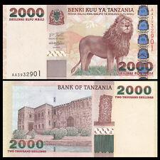 Tanzania 2000 2,000 Shillings, ND 2003, P-37a, banknote, UNC