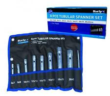 8 PIECE 6-22MM TUBULAR SPANNER SET IN POUCH METRIC CHROME VANADIUM PLUMBERS