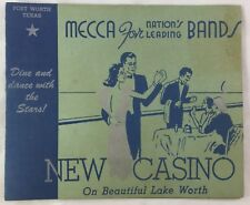 Antique New Casino Ballroom Lake Worth Fort Worth Texas Souvenir Photo Folder