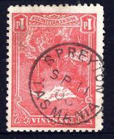 Tasmania nice 1908? SPREYTON postmark (type 1) on 1d pictorial rated C (2)