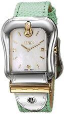 Fendi Womens B. Fendi MOP Dial Mint Green Strap Swiss Quartz Watch F382114581D1
