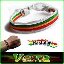 Bob Marley Bracelet style Rasta Reggae One Love Cotton cord Unisex Jah ska BR03