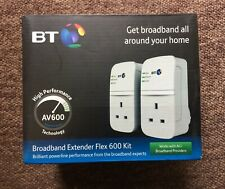 BT Broadband Extender Flex 600 Powerline Adapter Kit - Twin Pack