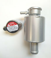 Universal Alloy Radiator Coolant Expansion Overflow Tank + Radiator Cap