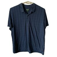 David Taylor Mens 3XL Short Sleeve Polo Golf Shirt Soft Cotton XXXL Grid Blue