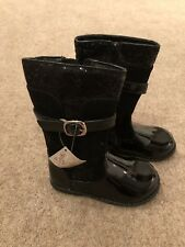 Patent Leather Boots By Couche Tot Girls UK Child Size 8 EU 26