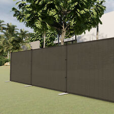 Brown 4ft Outdoor Mesh Fence with Poles Movable Freestanding Patio Pool Fencing