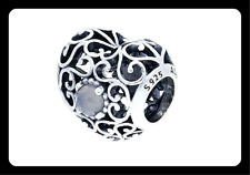 NEW AUTHENTIC GENUINE PANDORA SILVER HEART BIRTHSTONE MONTH SIGNATURE JUNE CHARM