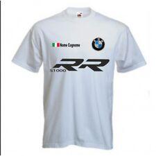 T-Shirt BMW S1000RR S 1000 RR White Polo Sweatshirt Moto Auto S-XXL