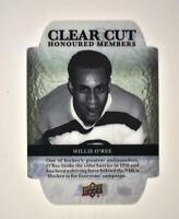 2020-21 UD Series 1 Clear Cut Honoured Members Update #HOF-94 Willie O'Ree /100