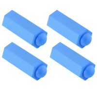 4pcs Pool Cue Tip Rubber Protector Snooker Head Cover Billiards Accessories