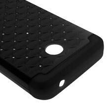 Diamond Case for Nokia Lumia 635 Hybrid Dual Layer Black Cover