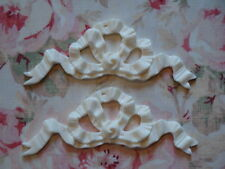 Shabby & Chic French Bow Ribbon Furniture Applique 2 pcs.