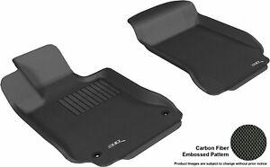 For 2008-2014 Mercedes-Benz C300 Kagu Carbon Pattern Black All Weather Floor Mat