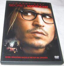 Secret Window DVD, 2004, Johnny Depp, Drama, Thriller, U.S.A. VG