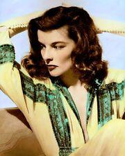 "KATHARINE HEPBURN (2) THE PHLADELPHIA STORY 1940 8x10"" HAND COLOR TINTED PHOTO"