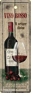 Nostalgic Art Vino Rosso Vin Verre à Vin Signet Panneau Métallique 15 X 5