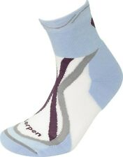 LORPEN Women's Light Tri-Layer Trail Running Socks Size: S M Blue XTRW 2-Pack
