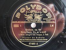 6x 78rpm VICTOR DE SABATA conducts BRAHMS SYMPHONY #4 - POLYDOR BERLIN 1939