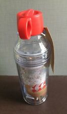 Starbucks Christmas Holiday Red Santa Reindeer LED Lightup Water Bottle -No Card