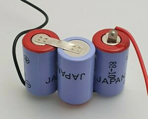 3.6V 600mAh NiCd Rechargeable Battery Pack ( 1/2A x 3) OFFSET