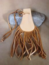 Small Native American Navajo Indian Handmade Leather Medicine Bag