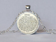 Tehilim Mizmor Ledavid Psalms 23rd -Israel Jewish Necklace Pendant for Men Women