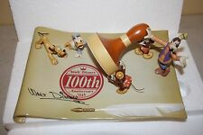 DISNEY 100th ANNIVERSARY Goofy Donald Mickey  Beautiful Ceramic Limited Edition
